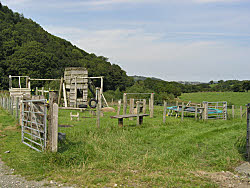 play area for holiday cottages